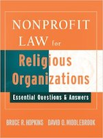 Nonprofit Law For Religious Organizations Book Cover