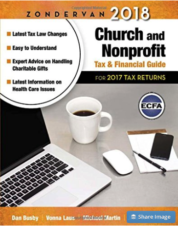Church And Nonprofit Tax And Financial Guide Book Cover